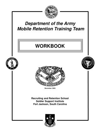 Recruiting and Retention School Soldier Support Institute Fort Jackson, South Carolina