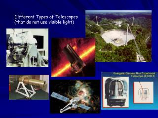 Different Types of Telescopes (that do not use visible light)