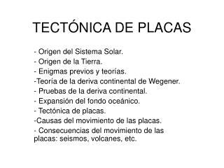 TECT�NICA DE PLACAS