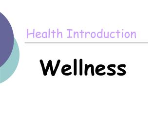 Health Introduction