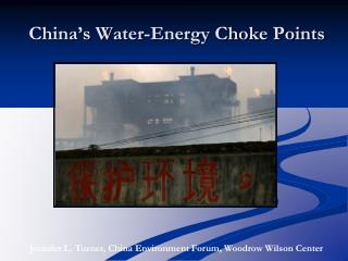 China's Water-Energy Choke Points