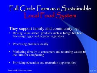 Full Circle Farm as a Sustainable Local Food System