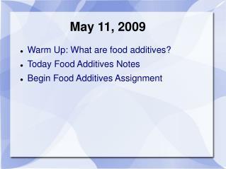 May 11, 2009