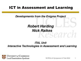 ICT in Assessment and Learning