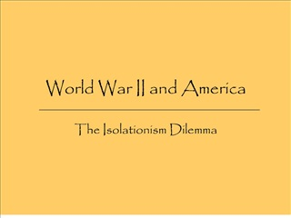 World War II and America