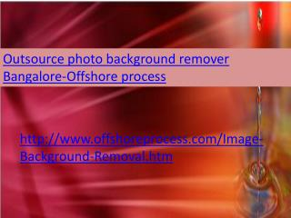 Outsource photo background remover Bangalore