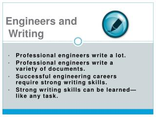 Engineers and  Writing
