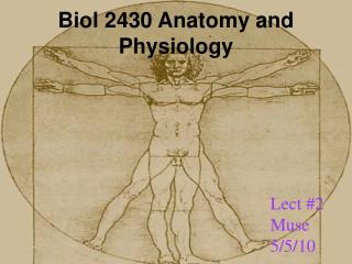 Biol 2430 Anatomy and Physiology