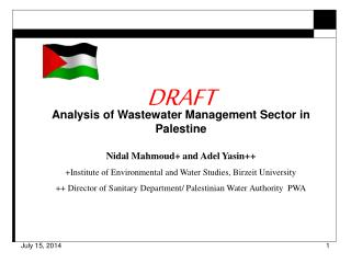 DRAFT Analysis of Wastewater Management Sector in Palestine