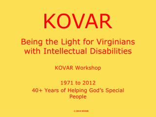 Being the Light for Virginians with Intellectual Disabilities