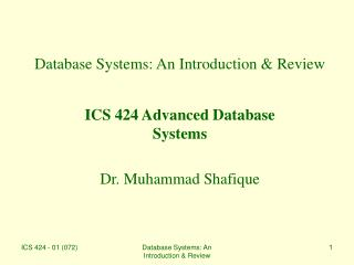 Database Systems: An Introduction & Review