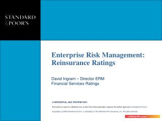 David Ingram – Director ERM Financial Services Ratings