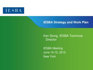 IESBA Strategy and Work Plan
