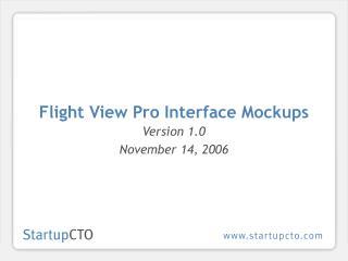 Flight View Pro Interface Mockups
