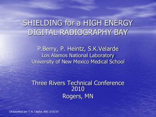 SHIELDING for a HIGH ENERGY DIGITAL RADIOGRAPHY BAY