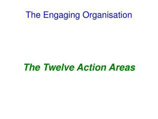 The Engaging Organisation