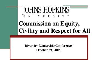 Commission on Equity, Civility and Respect for All