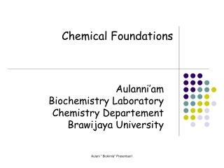 Aulanni'am Biochemistry Laboratory Chemistry Departement Brawijaya University