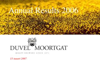 Annual Results 2006