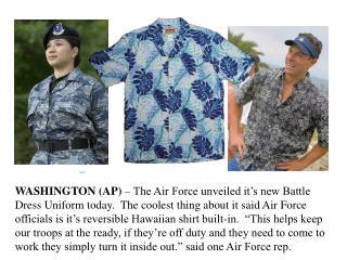 new USAF BDUs