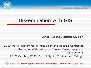 Dissemination with GIS