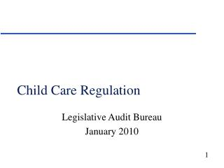 Child Care Regulation