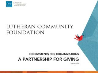 LCF 2009 Charitable Seminar organizations