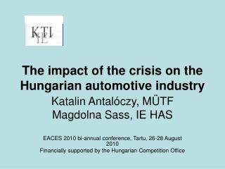 The impact of the crisis on the Hungarian automotive industry