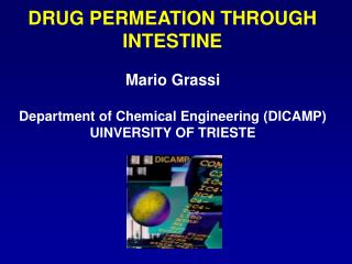 DRUG PERMEATION THROUGH INTESTINE