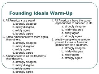 Founding Ideals Warm-Up