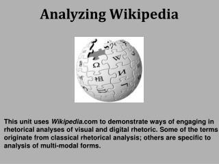 Analyzing Wikipedia