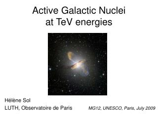 Active Galactic Nuclei  at TeV energies