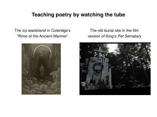 Teaching poetry by watching the tube
