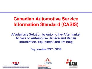 Canadian Automotive Service Information Standard CASIS