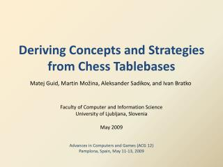 Deriving Concepts and Strategies from Chess Tablebases