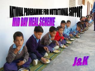 NATIONAL PROGRAMME FOR NUTRITIONAL SUPPORT