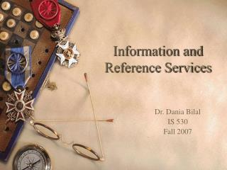 Information and Reference Services