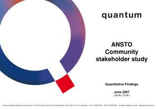 ANSTO Community stakeholder study