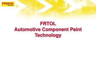 Automotive Component Paint Technology