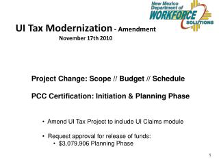 UI Tax Modernization  - Amendment November 17th 2010