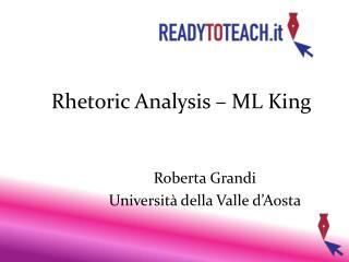 Rhetoric Analysis – ML King