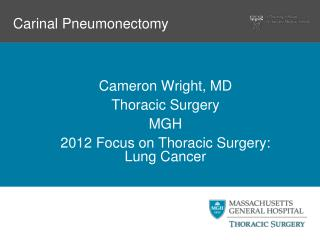 Carinal Pneumonectomy