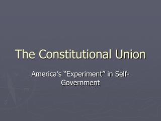The Constitutional Union
