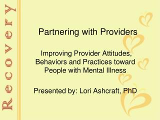 Partnering with Providers