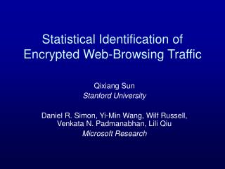 Statistical Identification of Encrypted Web-Browsing Traffic