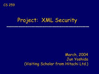 Project:  XML Security