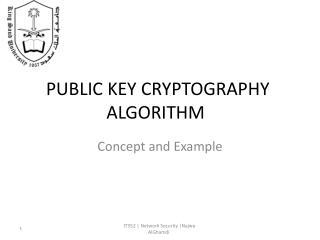 PUBLIC KEY CRYPTOGRAPHY ALGORITHM
