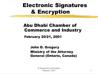 Electronic Signatures & Encryption