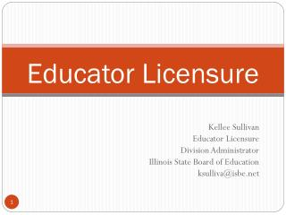 Educator Licensure