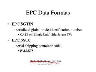 EPC Data Formats